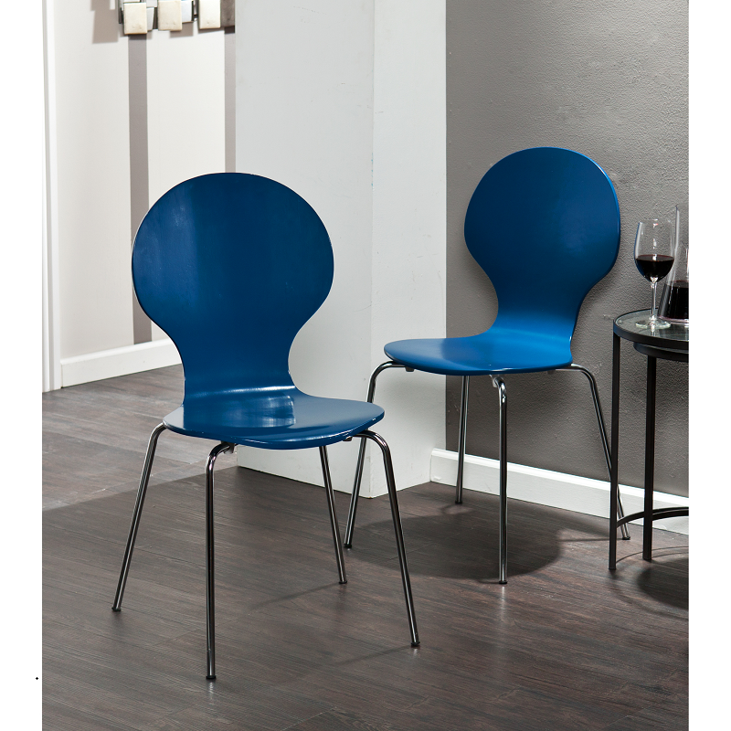 HOLLY & MARTIN CONBIE 2PC NAVY CHAIRS