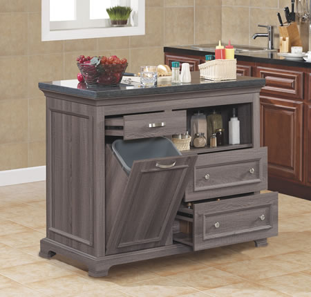 TRESANTI THE CHEF WEATHERED OAK KITCHEN ISLAND