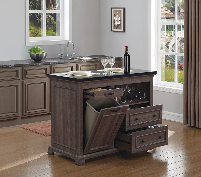 TRESANTI THE CHEF WEATHERED OAK KITCHEN ISLAND - KI5621-48-PO22
