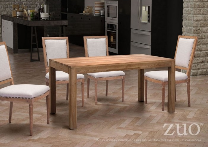 ZUO FILLMORE DISTRESSED NATURAL DINING TABLE - 98160